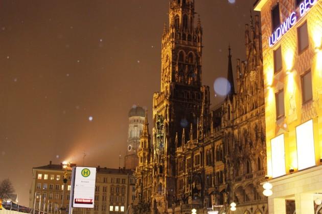 Marienplatz im Winter