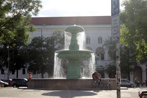 Brunnen an der LMU