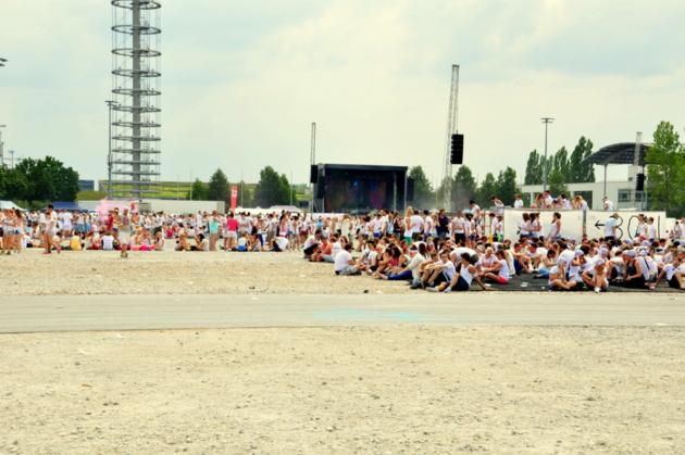 Holi Festival Gelände
