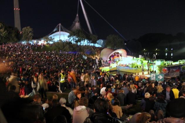 Zuschauer vom Feuerwerk impark